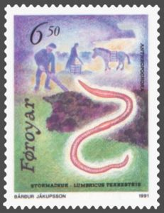 earthworm stamp